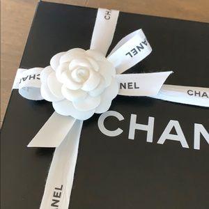 Chanel black medium size box for hand bag w ribbon